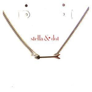 "Stella & Dot ""On the mark"" gold necklace."